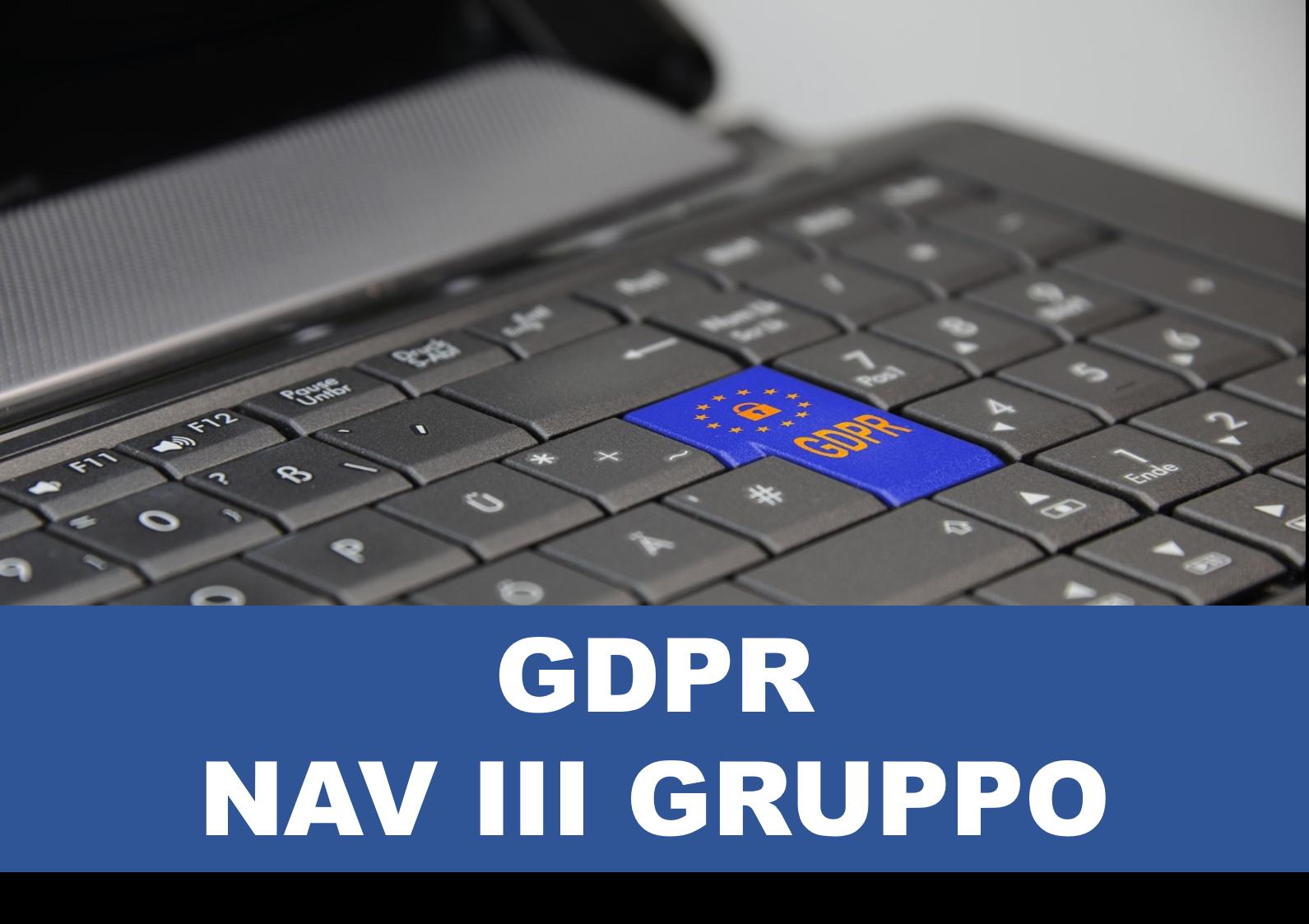 GDPR e trattamento dei dati personali - Navigator III