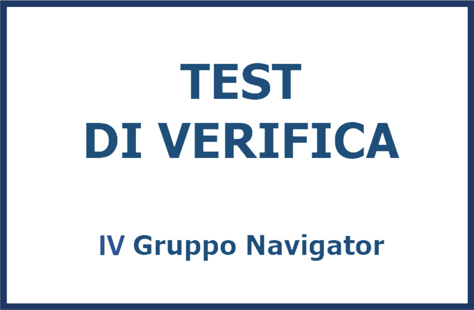 Test Navigator IV gruppo